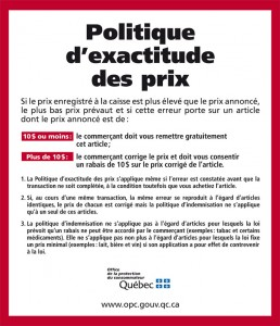 Politique Exactitude Prix